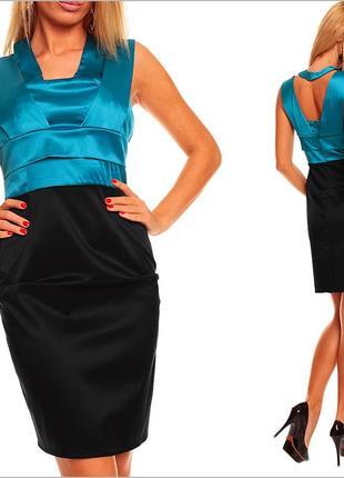 Платье черно-синее
