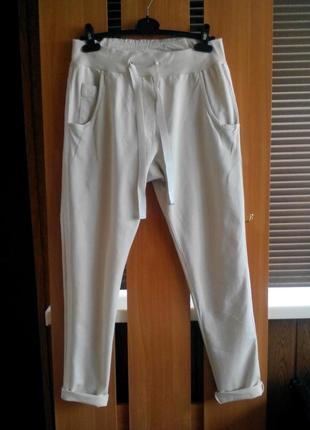 Актуальные  женские трикотажные брюки штаны с лампасами от chica's&beverly
