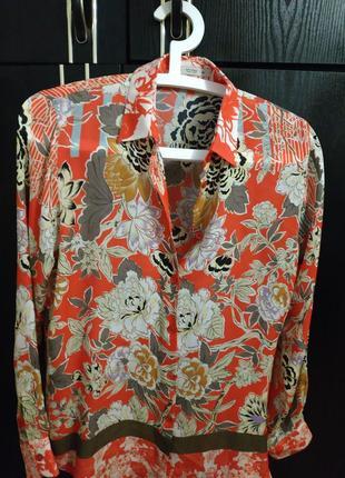 Шелковая рубашка etro италия . оригинал