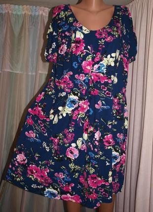 Мягкое красочное платье (6 хл замеры) превосходно смотрится