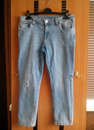 Женские джинсовые бриджи рваные джинсы