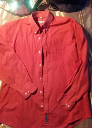 Стильная рубашка коралл ben sherman l-xl оригинал