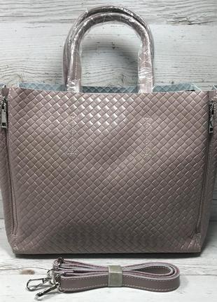 Женская кожаная сумка черная бронза коричневая пудра жіноча шкіряна сумка чорна8