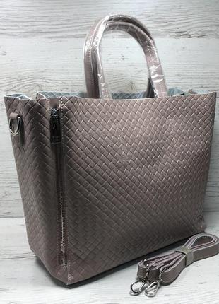 Женская кожаная сумка черная бронза коричневая пудра жіноча шкіряна сумка чорна9