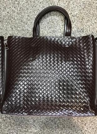 Женская кожаная сумка черная бронза коричневая пудра жіноча шкіряна сумка чорна10
