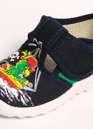 Тапочки капчики для сменки садика для мальчика хлопчиків хлопчика валди waldi валді рома