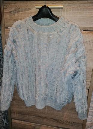 Крутой свитер вязанный рр36 (с-м)