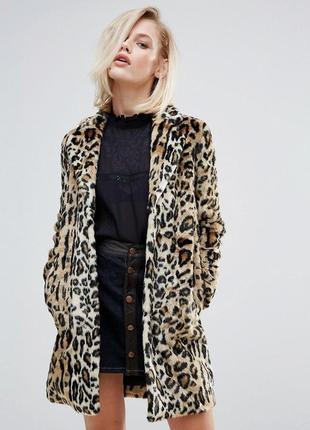 Шикарная трендовая леопардовая шубка