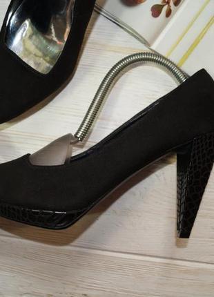 Limited. женственные туфли лодочки на устойчивом каблуке2