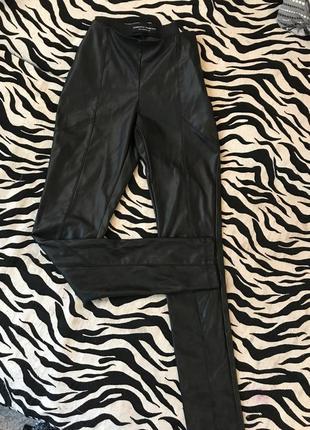 Кожаные лосины брюки