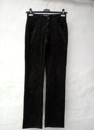 Трендовые вилюровые прямые брюки с высокой посадкой jigcaw,бархатные.