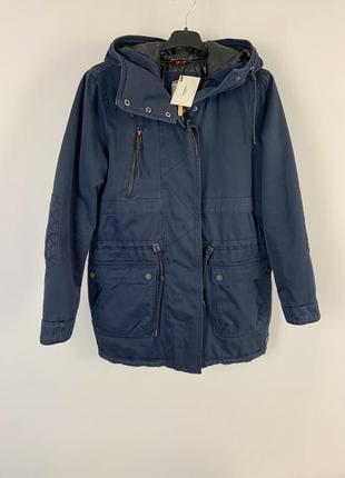 Качественная темно-синяя парка куртка с капюшоном демисезон vero moda1