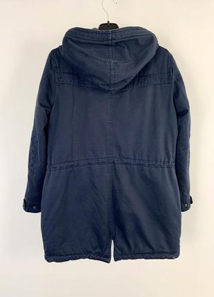 Качественная темно-синяя парка куртка с капюшоном демисезон vero moda7