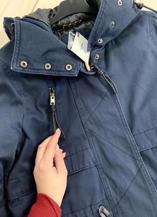 Качественная темно-синяя парка куртка с капюшоном демисезон vero moda10