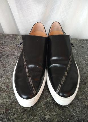 Туфли лоферы из натуральной кожи selected femme