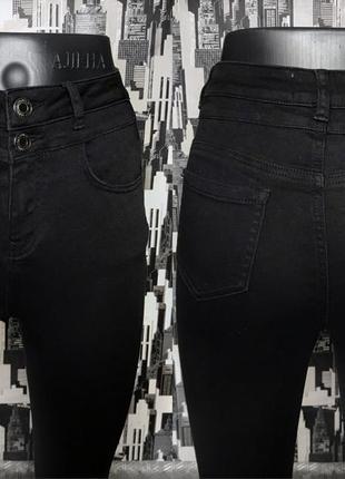 #540 черные джинсы скинни высокой посадки new look3