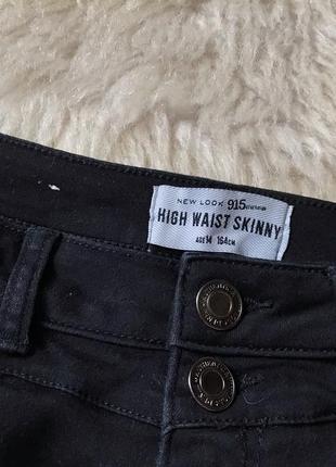 #540 черные джинсы скинни высокой посадки new look4
