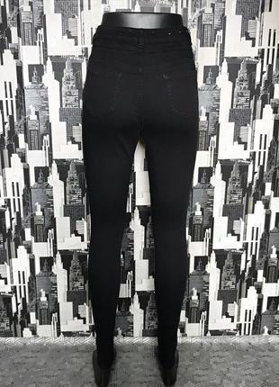 #540 черные джинсы скинни высокой посадки new look2