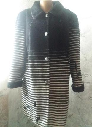 Пальто демисезон королевский размер 56