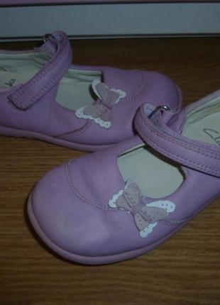 Кожаные туфельки кларкс на малышку