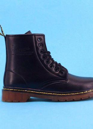 Легендарные демисезонные ботинки dr martens в чёрном цвете в наличии!
