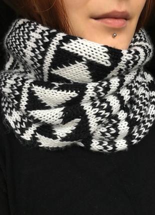 Тёплый вязаный шарф-снуд, шарф-хомут от tally weijl