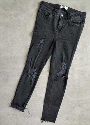 Чёрные джинсы с дырками 22071e7d87ed6