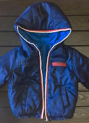 Детская куртка на весну демисезон zara двусторонняя 3-6 мес