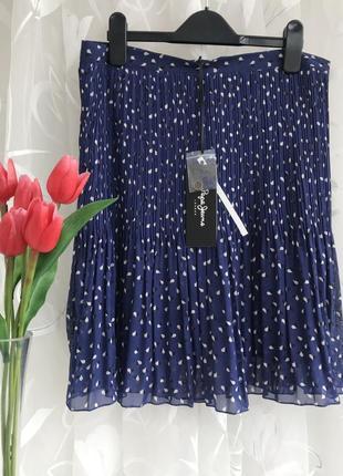 Брендовая ♥️👑♥️ шифоновая плиссированная юбка pepe jeans.
