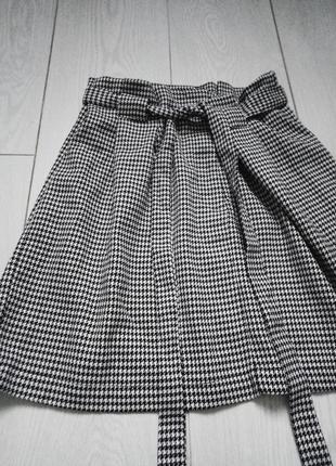 Модная твидовая юбка primark🖤