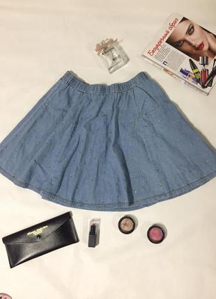 Крутая джинсовая юбка от denim co