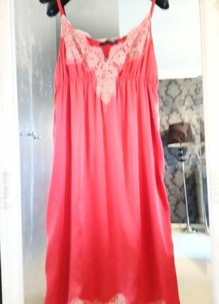 Платье комбинация бельевое пижамный стиль шёлковое
