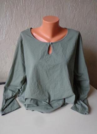 Кофта, блуза, коттон,  большой размер 52/54