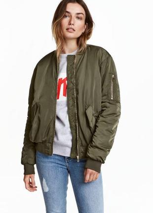 Бомбер новый новая нова куртка демисезон деми хаки хакі atm atmosphere m/l 399грн