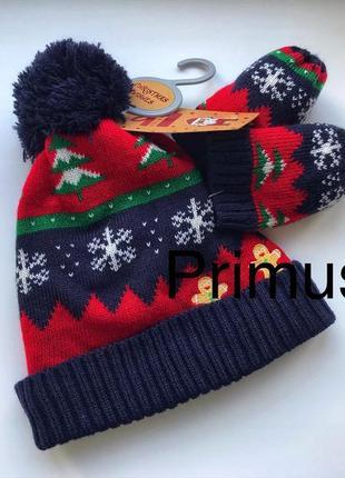 Primark шапочки+ варежки