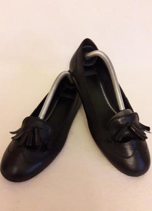Кожаные туфли, мокасины фирмы vagabond p. 37 стелька 24 см