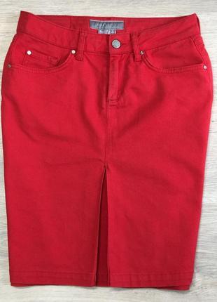 Красная юбка zara