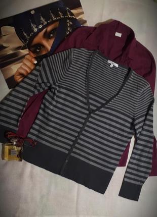 Джемпер полосатый женский кофта пуловер большой размер etam