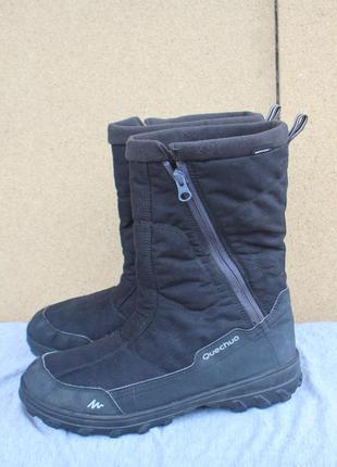 Зимние ботинки quechua текстиль франция 40р  дутики