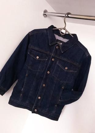 Плотная теплая джинсовка джинсовая кофта пиджак куртка на кнопках из джинса карманы обмен