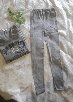 Тонкие трикотажные штаны лосины