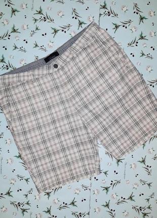 Акция 1+1=3 фирменные шорты в клетку из льна и хлопка zara man, размер 50 - 52