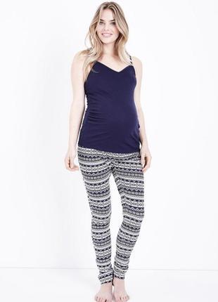 Пижама для беременных зимний принт new look