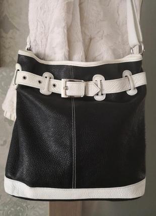 Стильная большая кожаная сумка borse in pelle