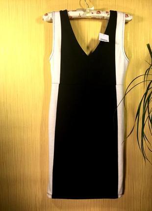 Pull&bear новое комфортное повседневное платье \ чорно-біла повсякденна сукня