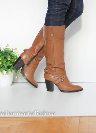 Кожаные ботинки сапоги, натуральная кожа