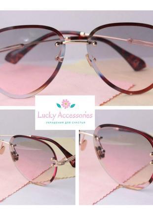 Красивые очки мешочек и салфетка в комплекте