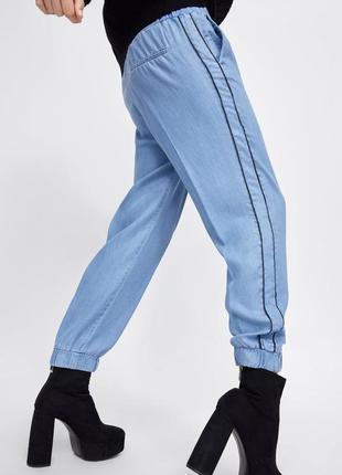 Стильные джинсы джоггеры екоткань тенсел zara