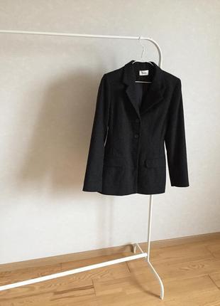 Приталенный пиджак жакет шерсть винтажный
