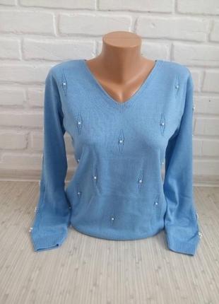 Нежный вязаный свитерок#трикотажный свитер#молодежный свитер